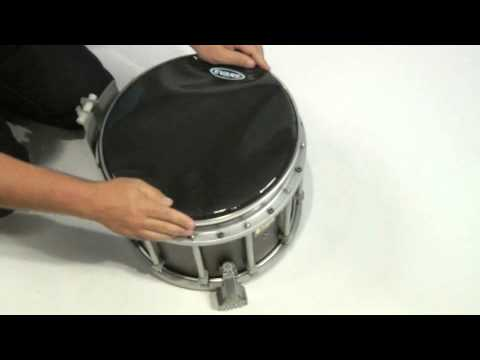 how to install the evans control screen on a marching snare drum youtube. Black Bedroom Furniture Sets. Home Design Ideas
