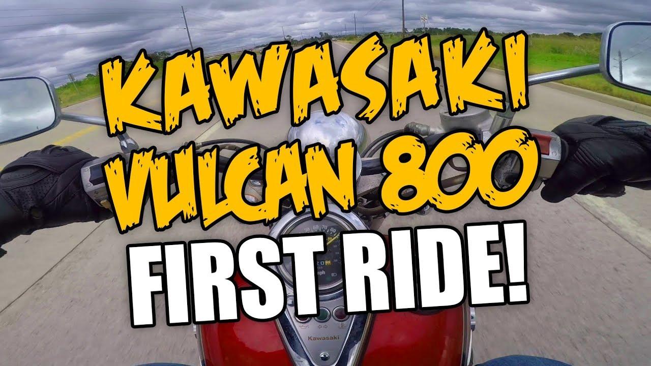 The Vulcan Lives! Kawi Vulcan 800 First Ride
