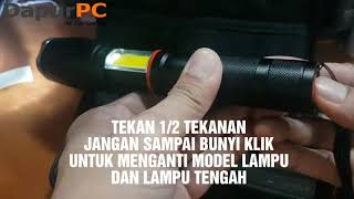 Paket Senter E17 COB VRtec Senter LED Torch Cree XM-L T6 8000 Lumens Bonus TAS