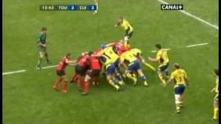 Rugby TOP14  Semi Final 2010 -1- Clermont vs Toulon  : Highlights of the 1st HT