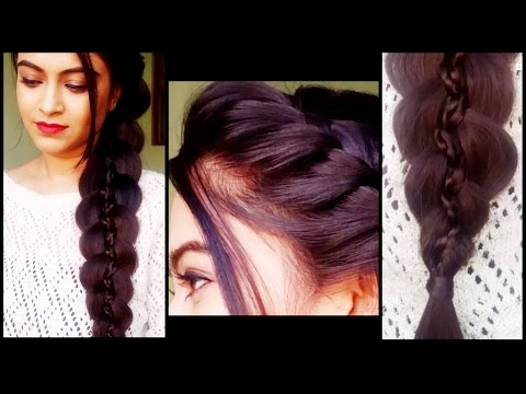 Braided 5 strand braid – hairstyles for medium