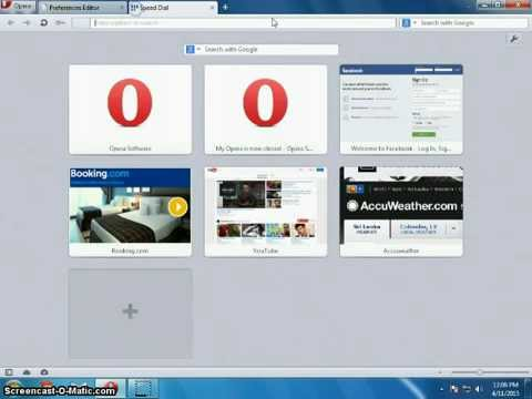 How to change the old google to new google serach in Opera old versions