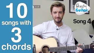 Born In The USA Bruce Springsteen | 10 songs with 3 Chords EASY 3 Chord Beginner Song #4