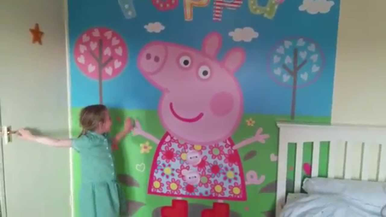 Great Peppa Pig Walltastic Unveil   YouTube Part 10