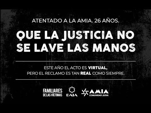 EN VIVO: ACTO VITURAL A 26 AÑOS DEL ATENTADO A LA AMIA