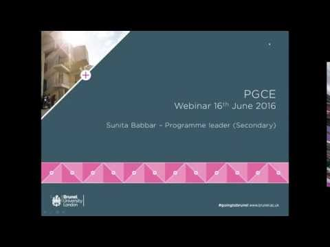 PGCE in Primary and Secondary Education Webinar | Thursday 16 June