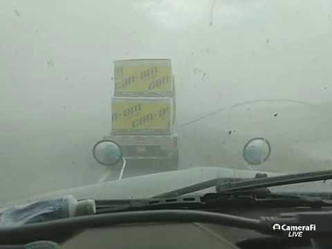 i10 lordsburg nm dust storm pile up as it happened 6/19 must see fast forward to see visibility