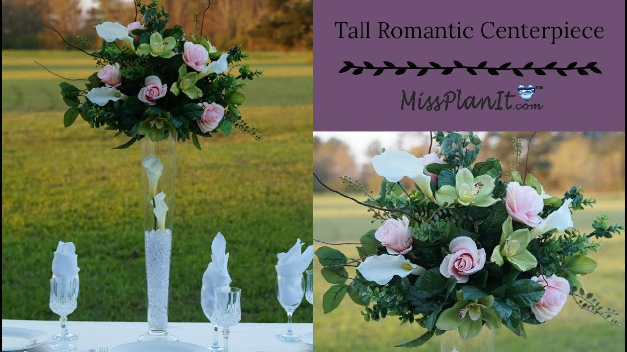 DIY Tall Romantic Centerpiece | Budget Wedding Decor | DIY Tutorial ...