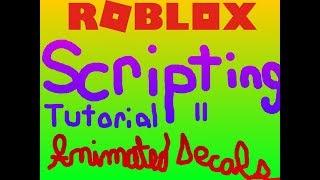 Roblox Scripting Tutorial #2: Wie man ein animiertes Aufkleber in Roblox 2018 Skript