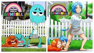 The Amazing World of Gumball Characters as Anime