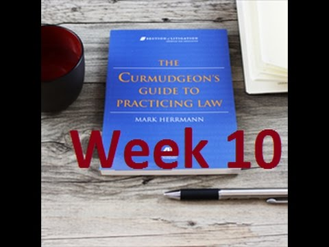 Week 10 on The Curmudgeon
