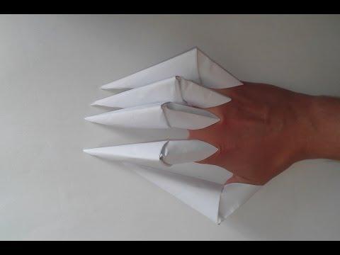 Как сделать из бумаги пальцы