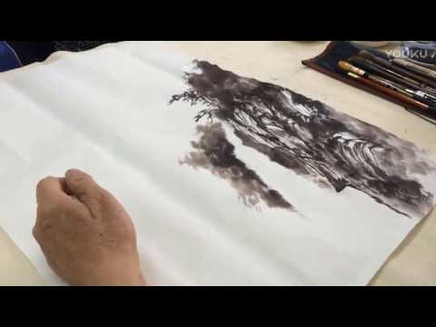 Chinese Traditional Art : Stone Rock Ink Painting