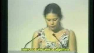 Girl makes speech at United Nations