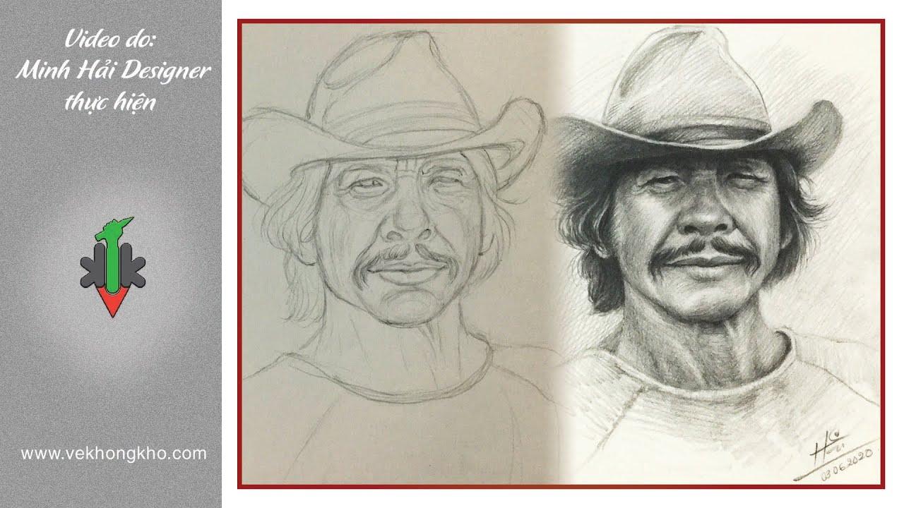 hướng dẫn vẽ chân dung Charles Bronson