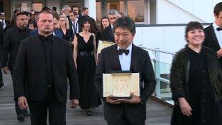 Cannes2018: les lauréats sortent du palais