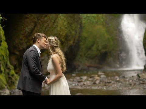 Megan & Kian Adventure Elopement at Oneonta Falls | Portland Elopement Videographer