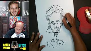 How To Draw and Color a Caricature PewDiePie