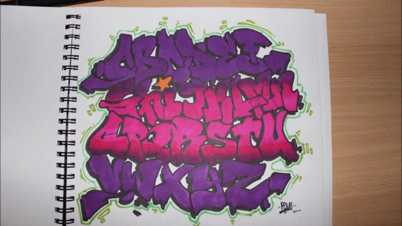 Blackbook graffiti alphabet 1 youtube