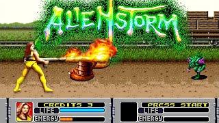 ALIEN STORM SEGA Mega Drive прохождение за Karen [056]