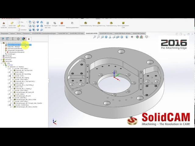 SolidCAM 2016 - Erweiterte Funktionen Bohrungsassistenten CAM