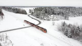 Штадлерский дизель-поезд 2404 близ ст. Тапа / Stadler DMU 2404 near Tapa station