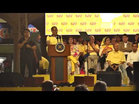 Pres. Benigno Aquino III - Team PNoy proclamation rally (part 1)