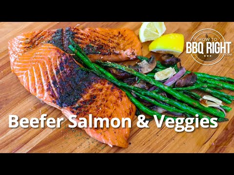 Beefer Salmon - Cooking Salmon & Veggies on the Beefer XL