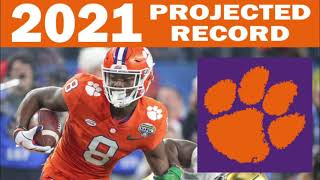 Clemson 2021 Record Projection From SG1 Sports