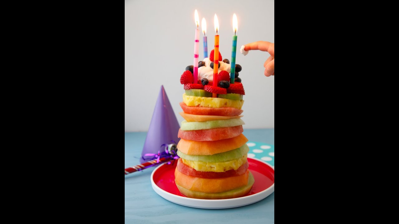 Fruit Tower Birthday Cake Easy Party Recipes Weelicious Youtube