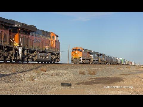 Texas Panhandle Railroading Action November 2016 (HD)