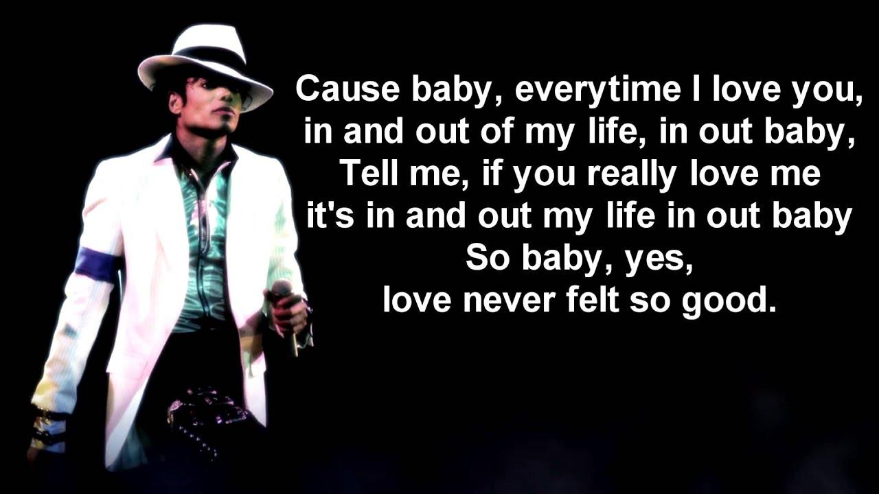 Love Never Felt So Good Lyrics