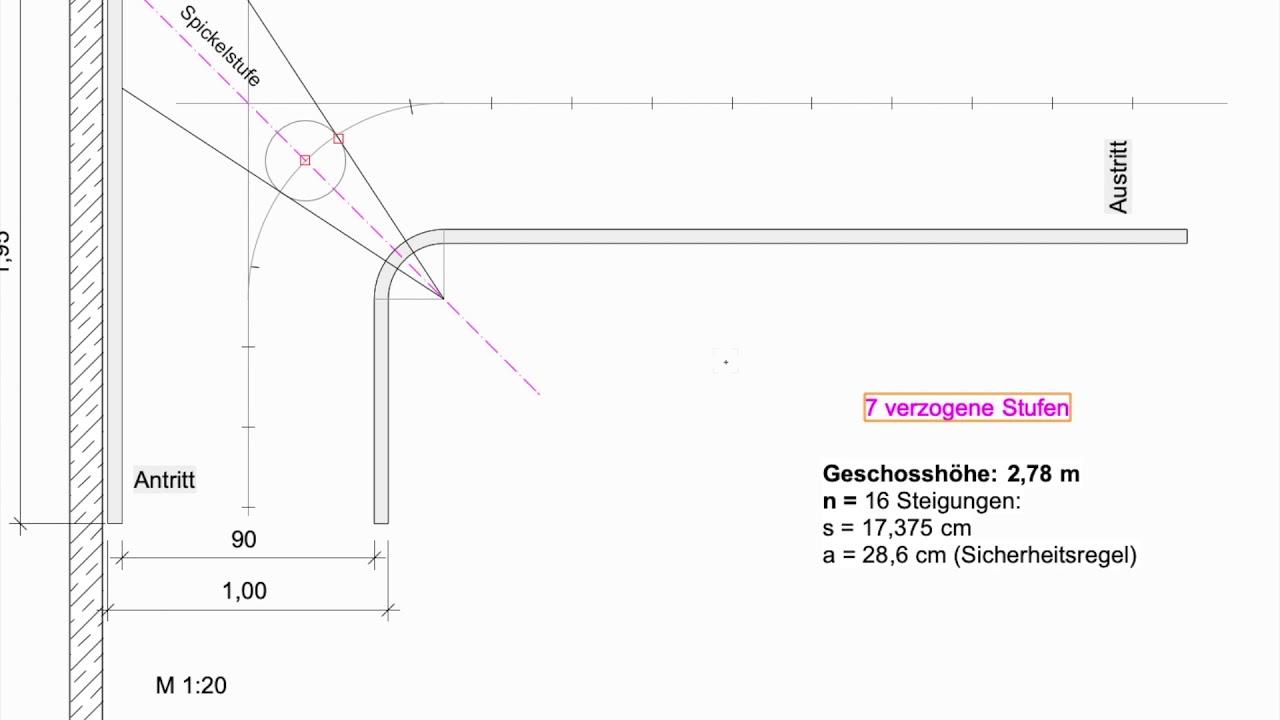 Download Viertelgewendelte Treppe verziehen nach der Verhältnismethode/Proportionalmethode