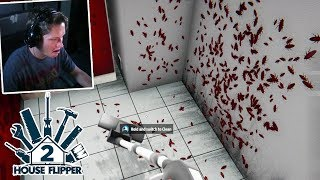 House Flipper Game - Part 2 - COCKROACHES EVERYWHERE *DISGUSTING*