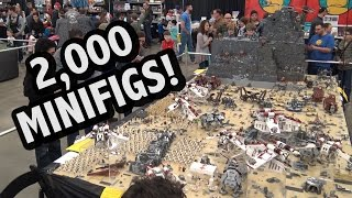 Motorized LEGO Star Wars Droid Factory Battle | Brickworld Indy 2017