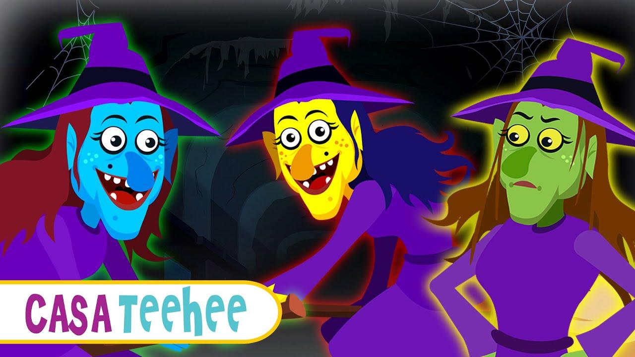 Desenhos Animados do dia das Bruxas | Músicas assustadoras para crianças | Casa Teehee
