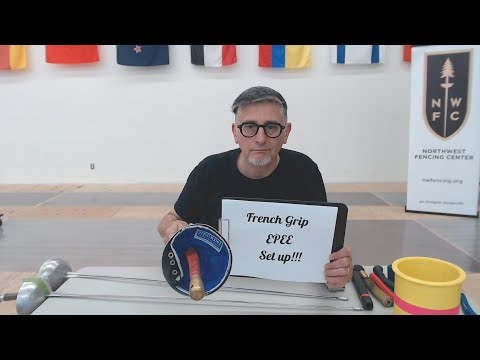Armory & Equipment Care #13 (French Grip Epee Setup) | Coach Michael McTigue