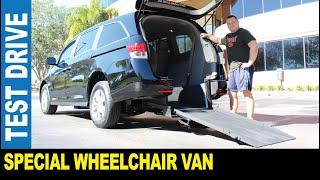 Wheelchair van 2016 Honda Odyssey handicap rear entry ramp driven by Jarek Clearwater Florida USA