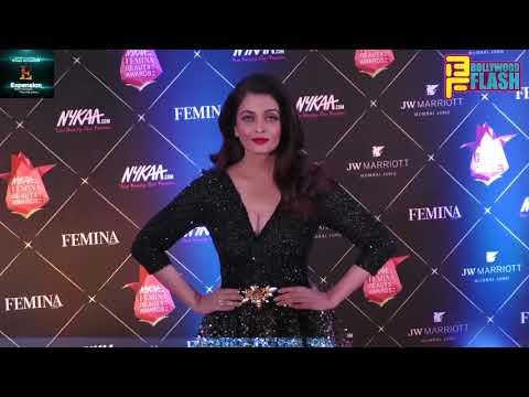 Beauty Queen Aishwarya Rai Bachchan At Red Carpet Of Nykaa Femina Beauty Awards 2018