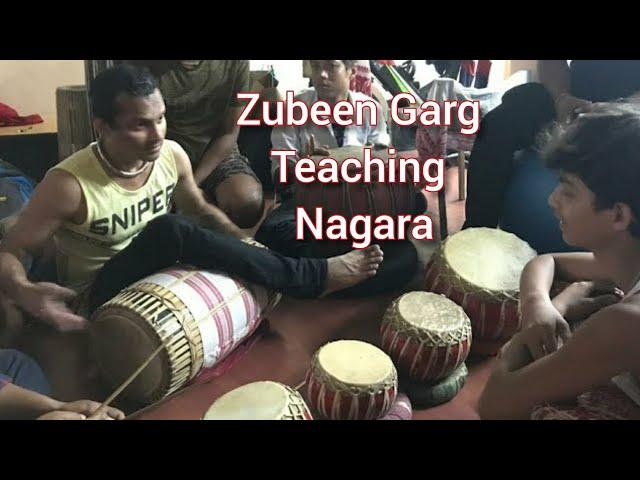 Zubeen Garg teaching NAGARA Beats || Jolly Assamese