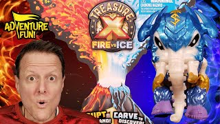 """Treasure X Fire vs Ice """"Beasts"""" Season 4 Unboxing Adventure Fun Toy review by Dad!"""