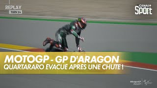 Lourde chute pour Fabio Quartararo ! - GP d'Aragon