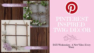 Cheap & Easy, Pinterest Inspired Twig Window || D.i.y Wall Decor - By Timefort