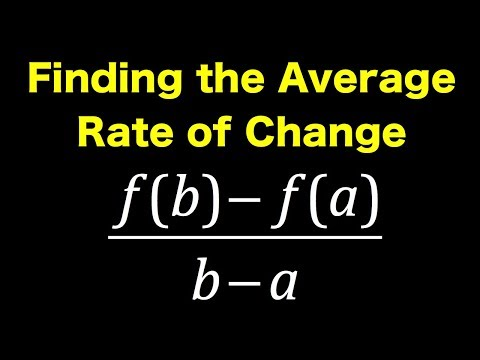 Finding The Average Rate Of Change ❖ PreCalculus ❖ Calculus