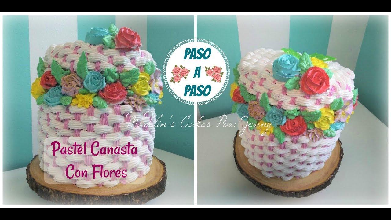 Pasteles De Boda Con Flores: Pastel Canasta Con Flores Perfecto Para Regalar