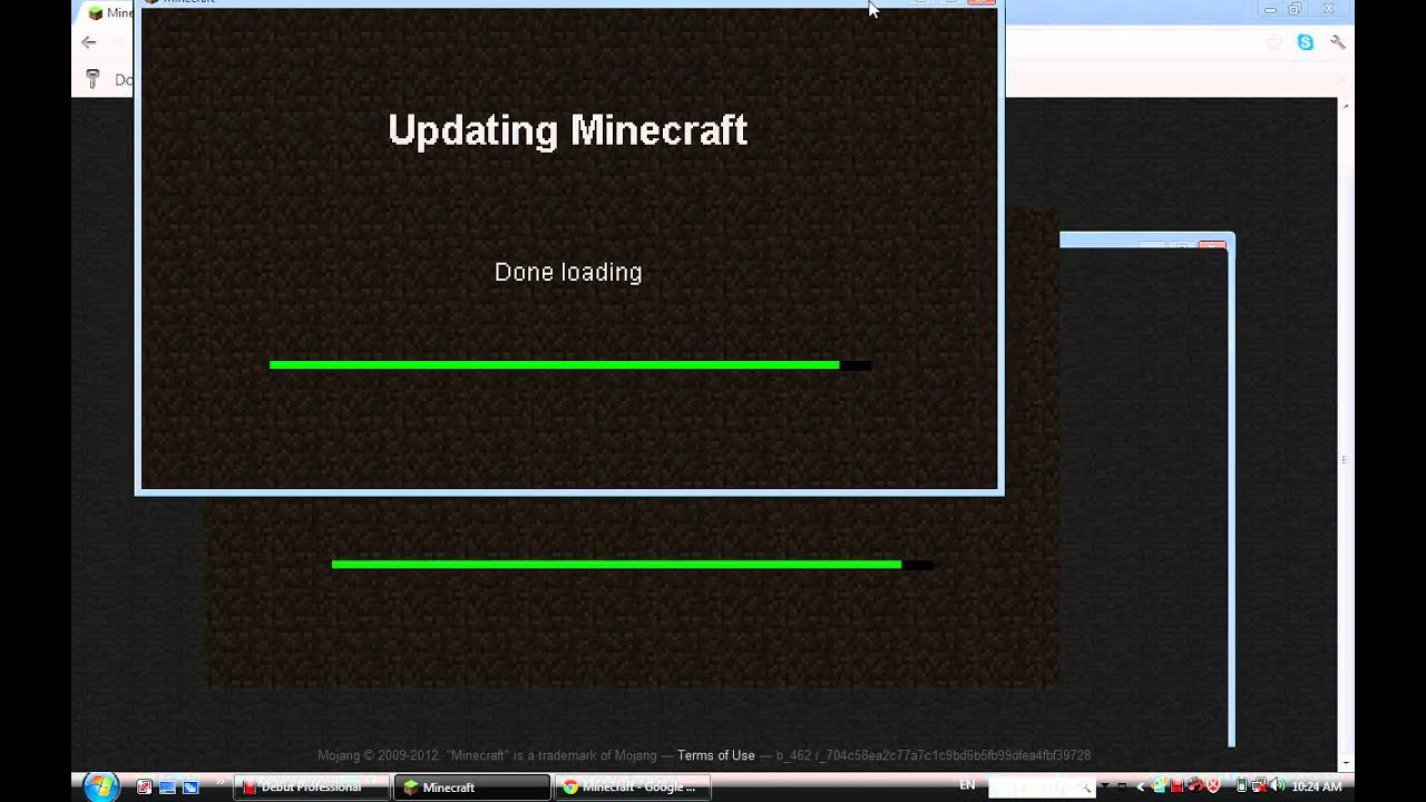 updating minecraft done loading