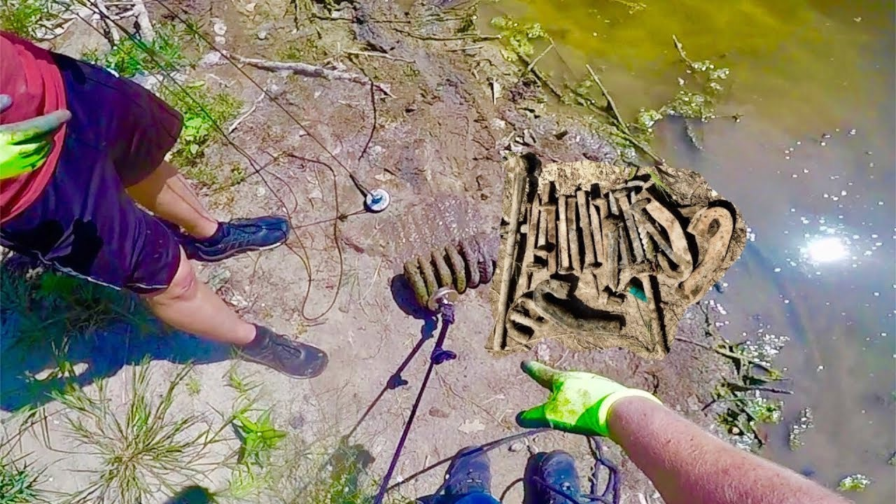 Magnet fishing a trainwreck with a 500 lb pull magnet for Magnet fishing tips
