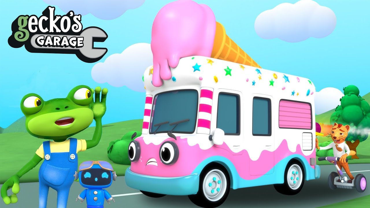 Gecko's Ice Cream Time|Gecko's Garage|Funny Cartoon For Kids|Learning Videos For Toddlers