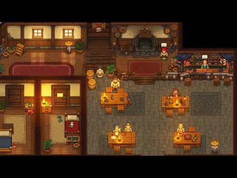 [LIVE?] Building a NEW TAVERN & Being Innkeeper - Graveyard Keeper DLC Gameplay - 동영상
