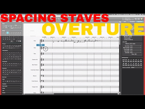 OVERTURE Spacing/Moving Staves